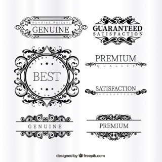 Ornamental Premium Labels Free Vectors