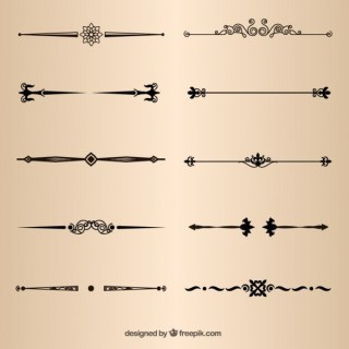 Page Decorative Dividers Vector Elements Free Vectors