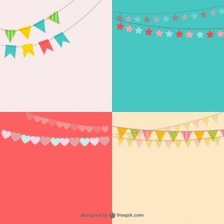 Party Garlands Pack Free Vectors