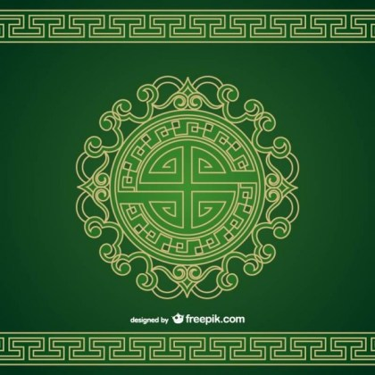 Patterned Chinese Ornament Vector Free Vectors