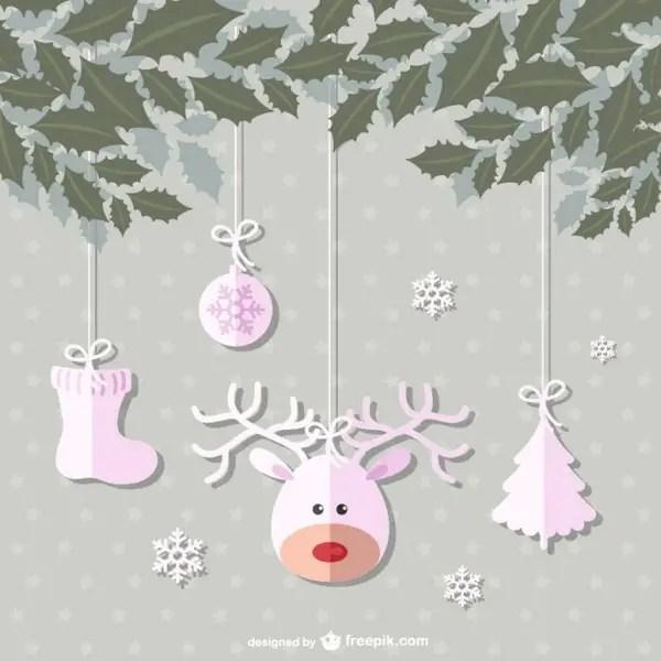 Pink Christmas Balls Vector Free Vectors
