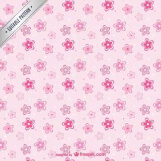 Pink Flowers Pattern Free Vectors
