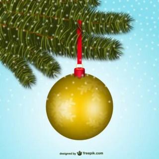 Realistic Christmas Ball Vector Free Vectors