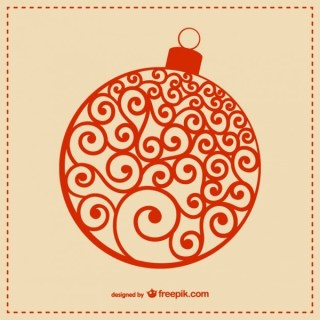 Red Christmas Ball Free Vectors