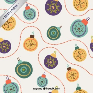 Retro Style Christmas Baubles Pattern Free Vectors