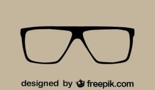 Retro Style Cool Glasses Icon Free Vectors
