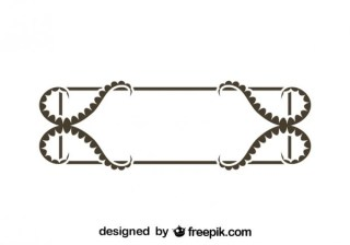 Retro Style Decorative Frame Vector Graphics Free Vectors