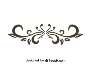 Retro Style Floral Decorative Text Divider Vector Graphics Free Vectors