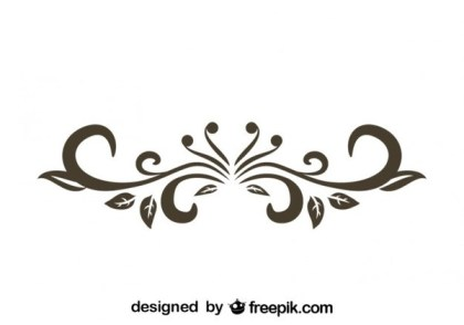 Retro Style Floral Decorative Text Divider Vector Graphics Free Vectors