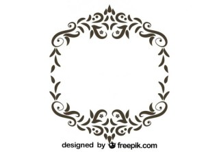 Retro Style Floral Frame Ornamental Vector Graphics Free Vectors