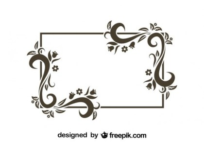 Retro Style Floral Frame Vector Graphics Free Vectors