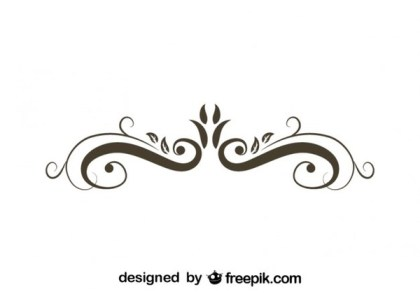 Retro Style Floral Ornamental Graphic Element Free Vectors