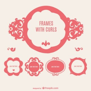 Retro Style Frames Badges Collection Free Vectors