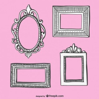 Retro Style Hand-Drawn Frames Collection Free Vectors