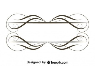 Retro Style Ornamental Minimalist Frame Vector Graphics Free Vectors