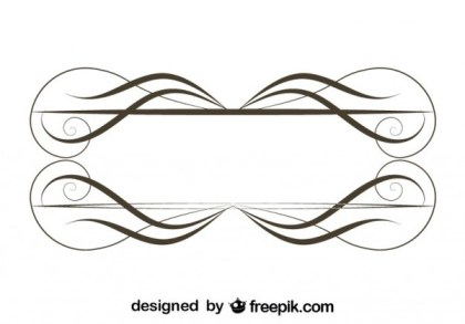 Retro Style Ornamental Minimalist Frame Vector Graphics Free Vectors