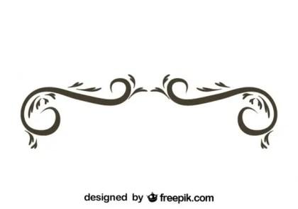 Retro Style Simple Swirl Graphic Element Free Vectors