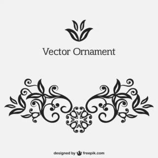 Retro Style Vector Ornament Free Vectors
