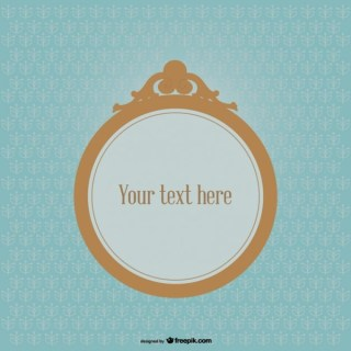 Round Frame On Vintage Style Background Vector Graphics Free Vectors