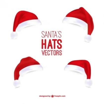 Santa Claus Hats Illustrations Free Vectors