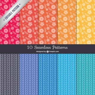 Seamless Patterns Pack Free Vectors