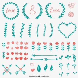 Simple Calligraphic Ornaments Free Vectors