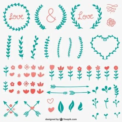 Simple Calligraphic Ornaments Free Vectors