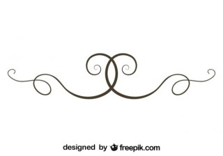Simple Swirl Text Divider Vector Element Free Vectors