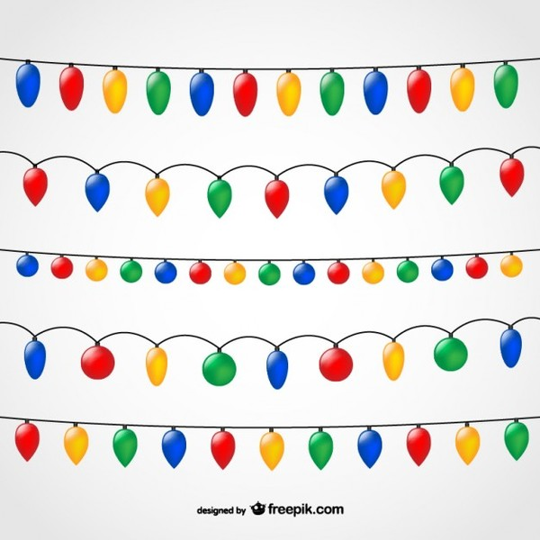 String Of Christmas Lights Free Vectors