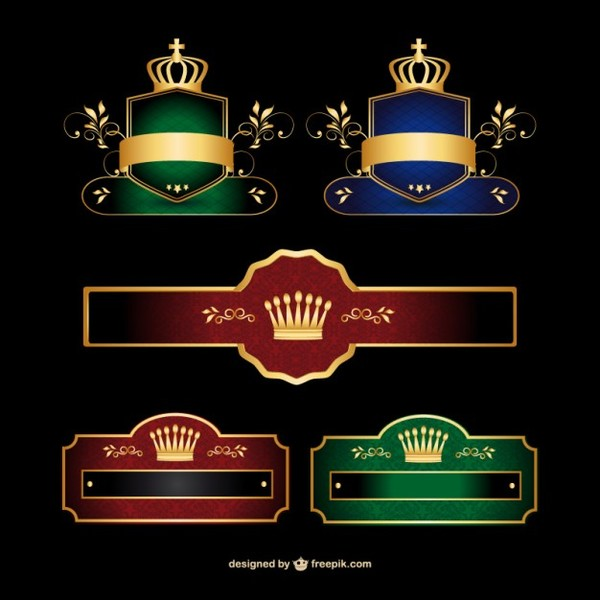 Stylish Banner Collection Logo Vector Free Vectors
