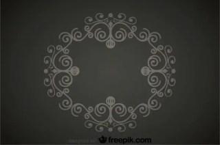 Swirl Decoration Retro Style Background Free Vectors