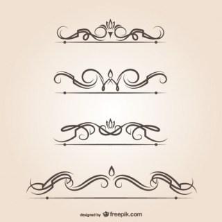 Swirl Vector Text Dividers Graphic Elements Free Vectors