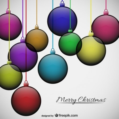 Transparent Christmas Baubles Free Vectors