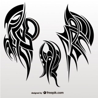 Tribal Abstract Wings Vector Collection Free Vectors