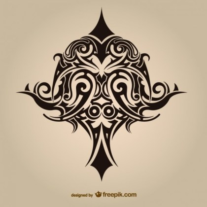 Tribal Asbtract Tattoo Vector Graphics Free Vectors