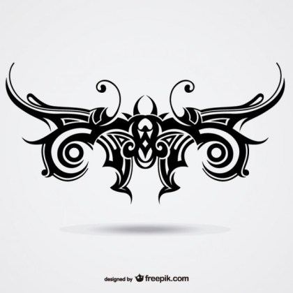 Tribal Butterfly Vector Tattoo Free Vectors
