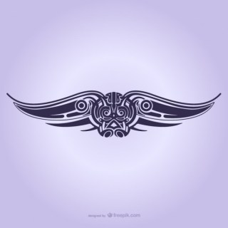 Tribal Wings Ornament Tattoo Free Vectors