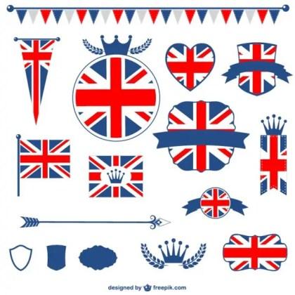 United Kingdom Flag Free Graphic Elements Free Vectors