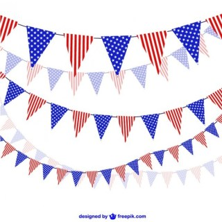 United States Celebration Garlands Vector Free Vectors