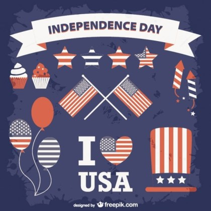 United States Independence Day Collection Free Vectors