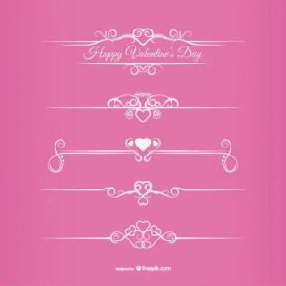 Valentine's Day Borders Free Vectors