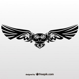 Vector Illustration of Tribal Owl Free Vectors