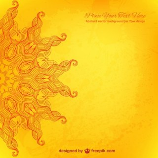 Vector Sun Arabesque Background Free Vectors