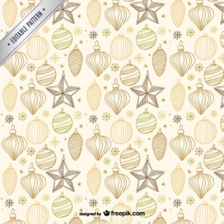 Vintage Style Christmas Pattern Free Vectors