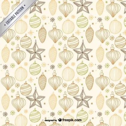 Vintage Style Christmas Pattern Free Vectors