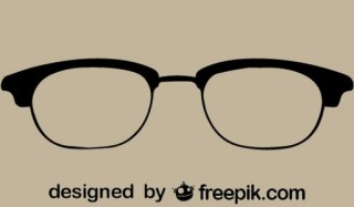 Vintage Style Cool Glasses Icon Free Vectors