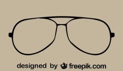 Vintage Style Eyeglasses Vector Icon Free Vectors