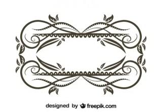 Vintage Style Floral Decorative Frame Vector Graphics Free Vectors