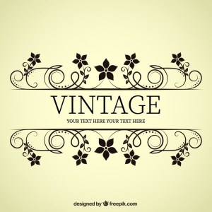 Vintage Style Flower Banner Free Vectors