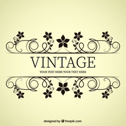 Vintage Style Flower Banner Free Vectors